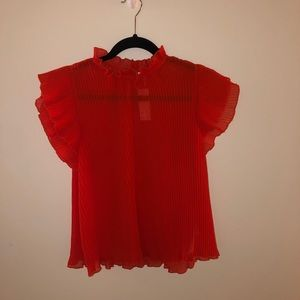 Anthropologie Pleated Blouse